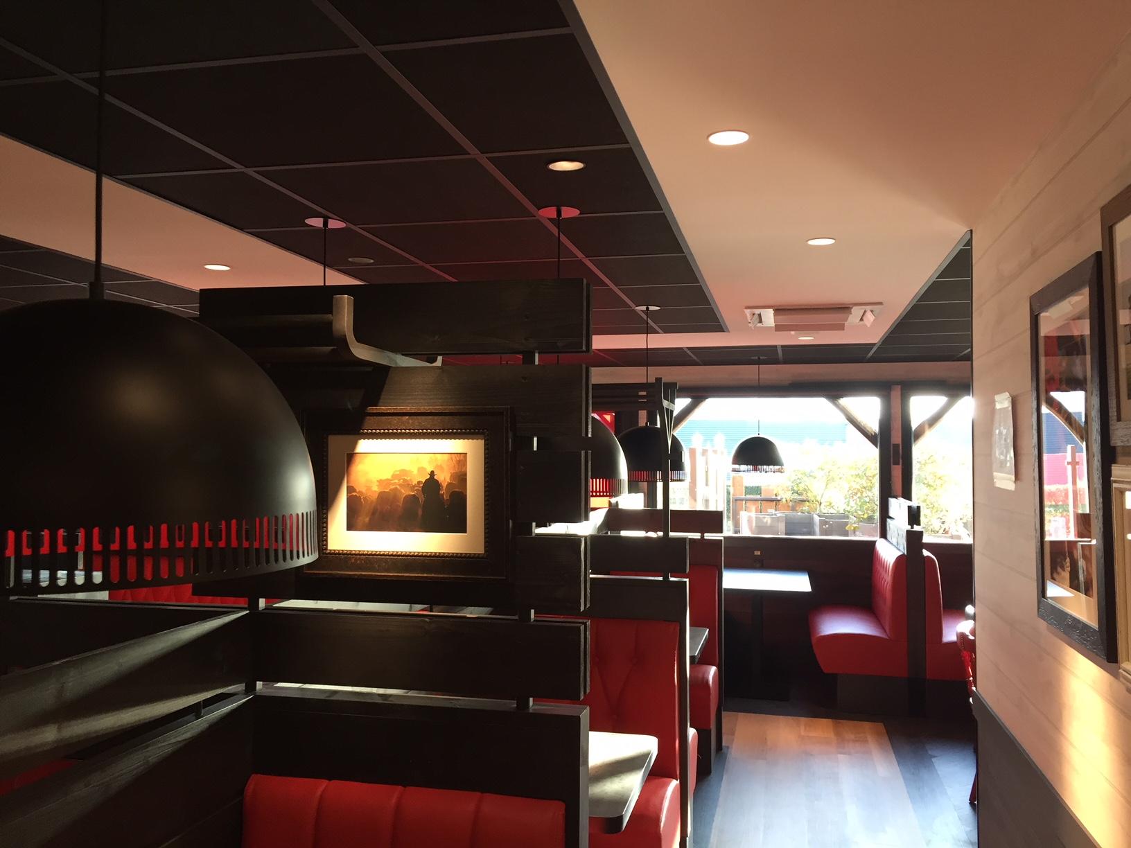 Installation électrique d'un restaurant Buffalo Grill à Lisieux.