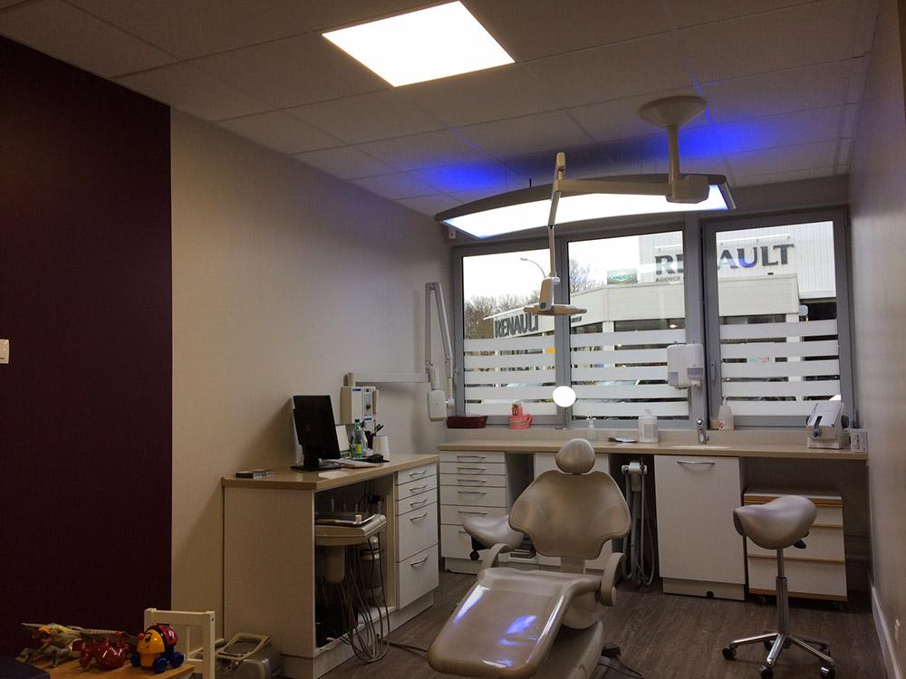 Éclairage électrique d'un cabinet dentaire
