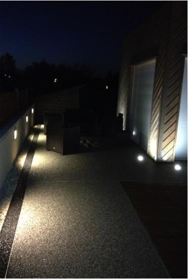 Mise en valeur façade et terrasse, éclairage extérieur