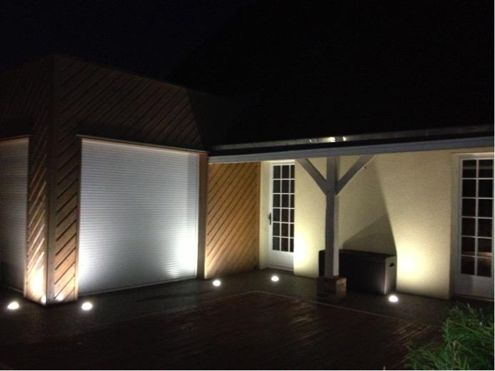 Installation éclairage extérieure