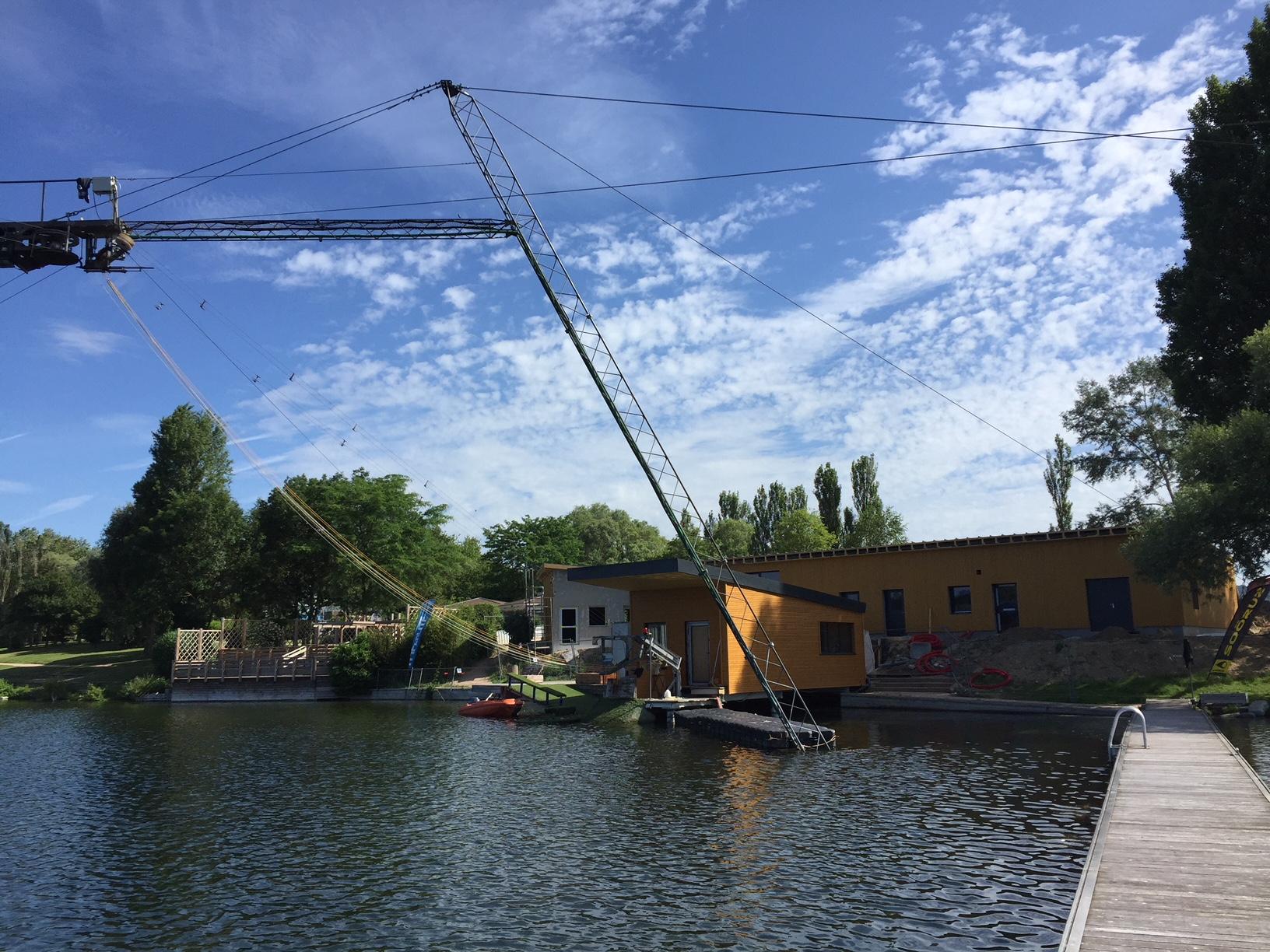 L'entreprise d'électricité générale Sedelec électricité a été missionnée pour effectuer la construction électrique complète du téléski nautic de l'air de Loisrs de Poses (Département de l'Eure)